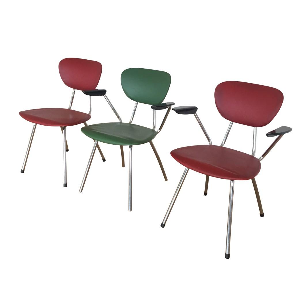 Tisch mit drei Stühlen, Mauser 1950er Jahre