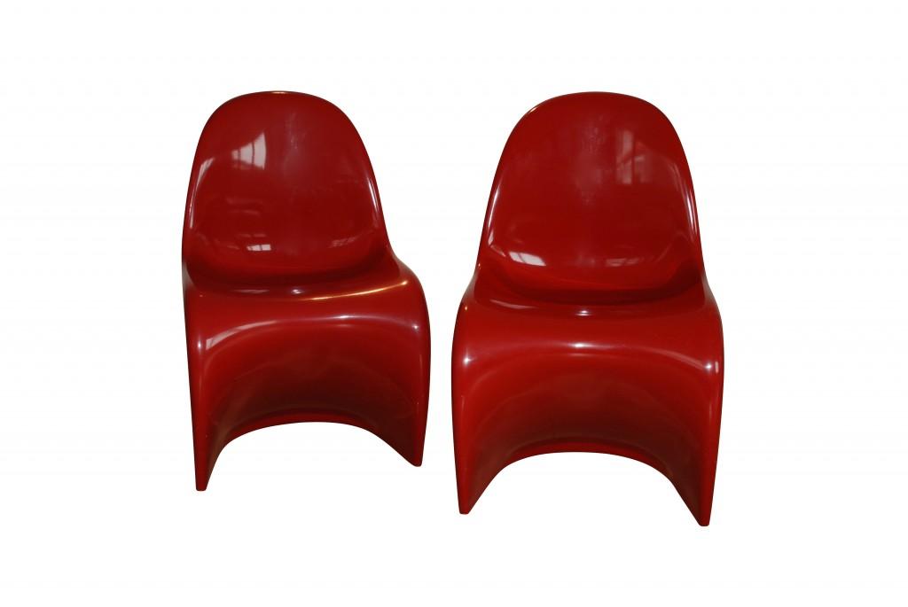 Paar Stühle 'Panton Chair', Verner Panton 1960er Jahre