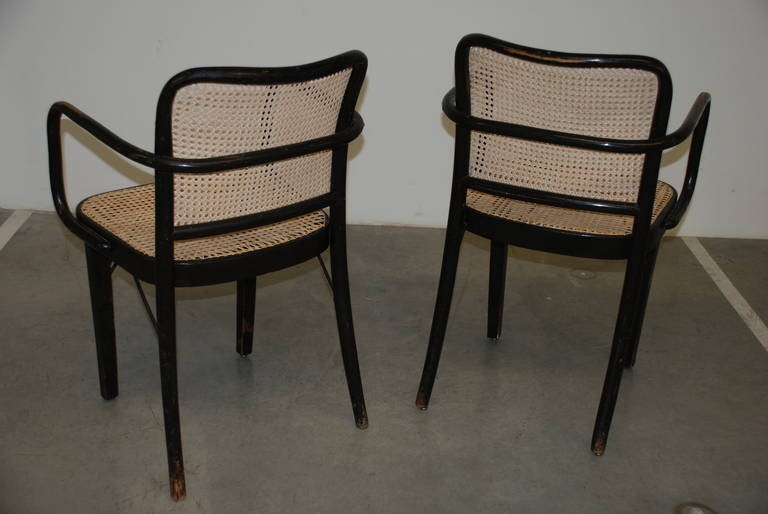 Paar Armlehnstühle 'A 811 F', Josef Hoffmann 1930er Jahre