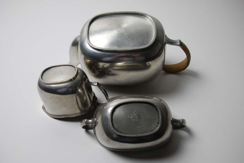 Teeservice dreiteilig, Just Andersen um 1935