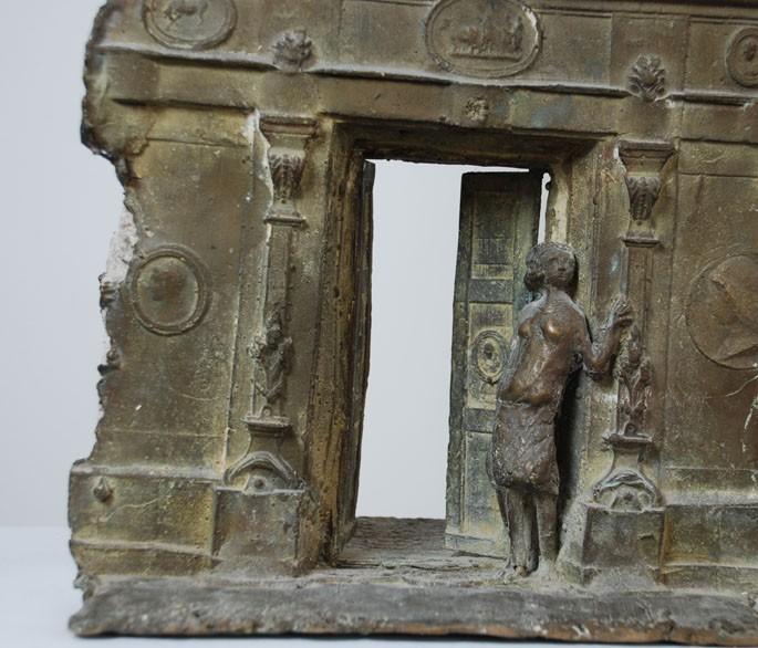 Bronze 'Via del Pellegrino', Elmar Hillebrand (*1925-2016)