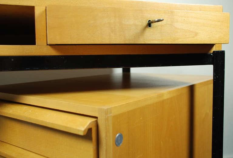 Schreibtisch mit Kontainer, Kurt Thut 1960er