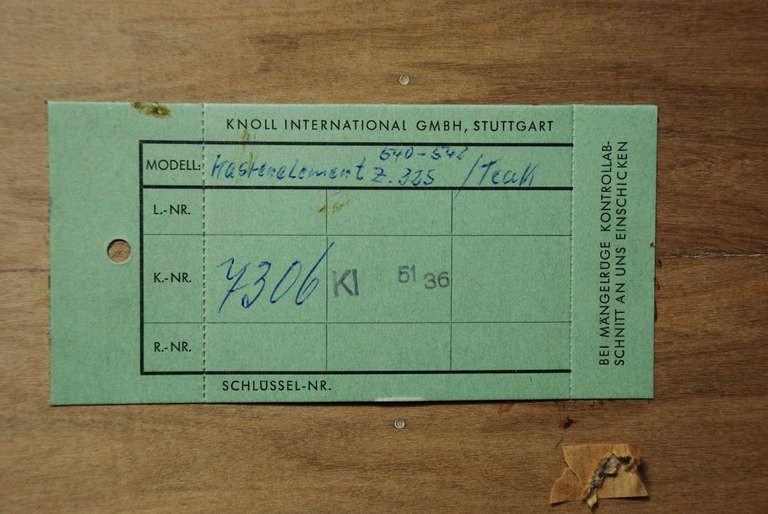 Regal, Florence Knoll und Wilhelm Kienzle um 1960