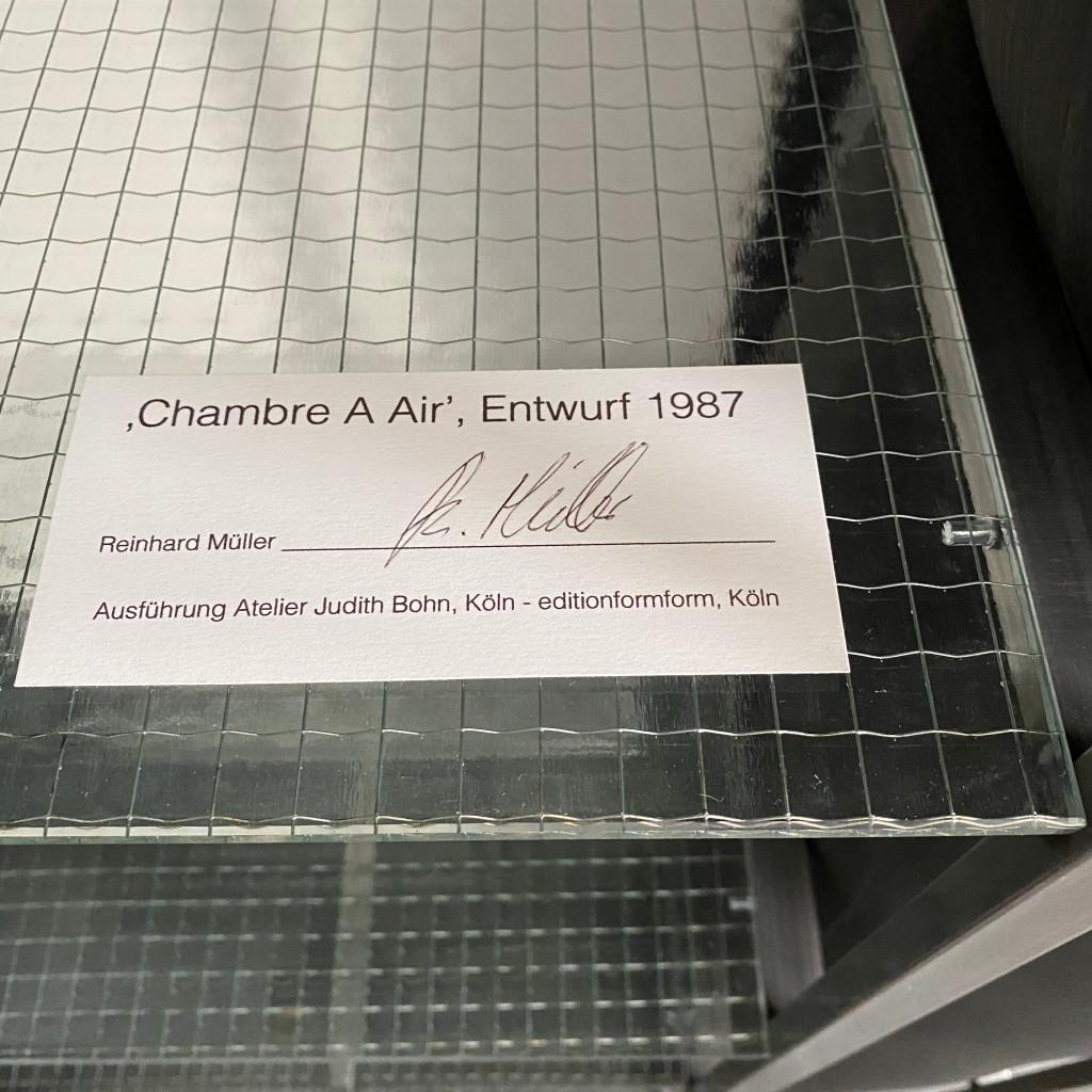Schlauchregal 'Chambre A Air', Reinhard Müller 1987
