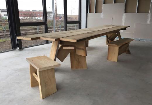 Andres Bally  Materialarbeiten  Bergstation Hilden